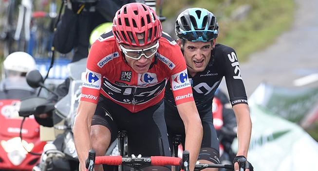 09-09-2017 Vuelta A Espana; Tappa 20 Corvera De Asturias - Alto De L'angliru; 2017, Team Sky; Froome, Christopher; Poels, Wouter; Alto De L'angliru;